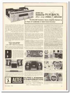 altec lansing corp 1964 three sixty 360 stereo amplifier vintage ad