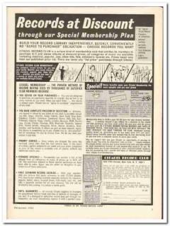 citadel record club 1964 discount special membership plan vintage ad
