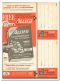 allied radio 1963 stereo hifi recording electronics catalog vintage ad