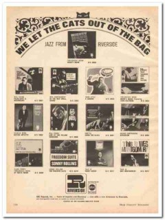 abc records inc 1968 riverside thelonious monk jazz music vintage ad