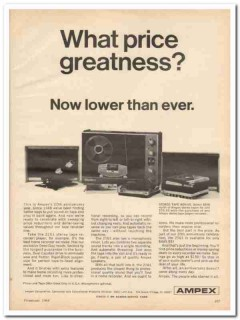 ampex corp 1968 lower price model 2161 tape recorder stereo vintage ad