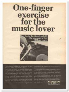 benjamin electronic sound corp 1968 miracord 50h turntable vintage ad