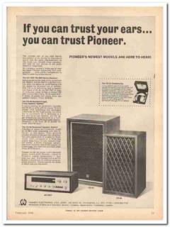 pioneer electronics corp 1968 sx-700t cs-63 cs-88 stereo vintage ad
