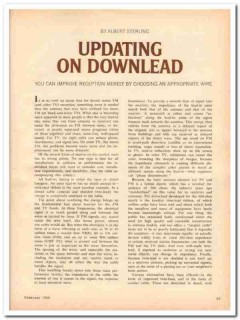 updating on downlead 1968 albert sterling stereo radio vintage article