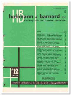 Hohmann Barnard Inc 1954 Vintage Catalog Metal Building Construction