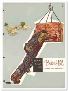 Briar Hill Stone Company 1954 Vintage Catalog Sandstone Golden Tone