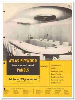 Atlas Plywood Corp 1954 Vintage Catalog Wood Panels Hard Soft Building