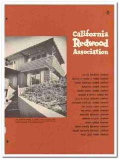 California Redwood Association 1954 Vintage Catalog Information Center