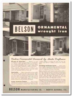 Belson Mfg Company 1954 Vintage Catalog Wrough Iron Panels Ornamental