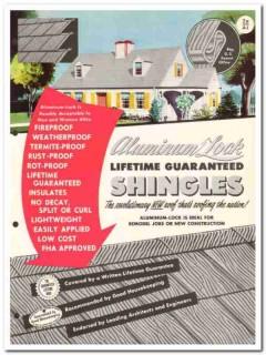 Aluminum Lock Shingle Corp 1954 Vintage Catalog Roofing Lifetime