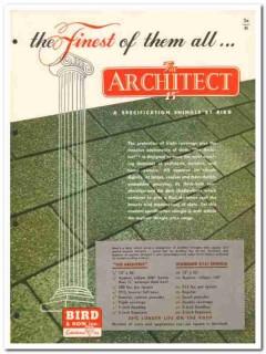Bird Son Inc 1954 Vintage Catalog Roof Architect Master-Bilt Shingles