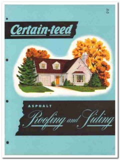 Certain-teed Products Corp 1954 Vintage Catalog Roofing Siding Asphalt