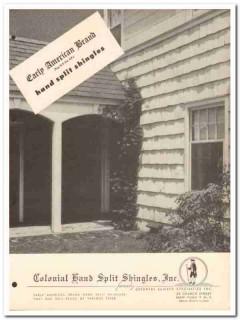 Colonial Hand Split Shingles Inc 1954 Vintage Catalog Early American