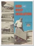 Bird Son Inc 1954 Vintage Catalog Roof Insulation Asphalt Coated