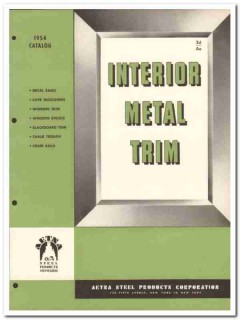 Aetna Steel Products Corp 1954 Vintage Catalog Metal Trim Interior