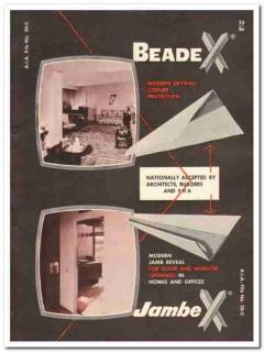 Beadex Sales Inc 1954 Vintage Catalog Drywall Corner Protection Jambex