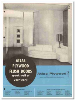 Atlas Plywood Corp 1954 Vintage Catalog Doors Solid Hollow Core Flush