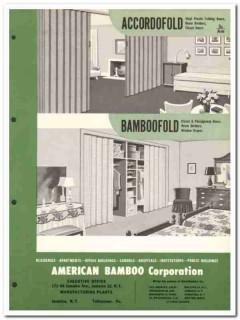 American Bamboo Corp 1954 Vintage Catalog Doors Accordofold Bamboofold