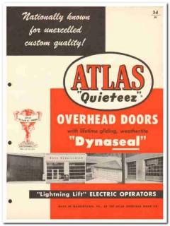 Atlas Overhead Door Company 1954 Vintage Catalog Quieteez Dynaseal