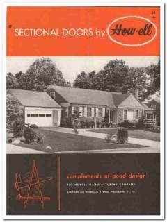 Howell Mfg Company 1954 Vintage Catalog Doors Sectional How-Ell-Dor