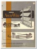 Arnold Products Sales Corp 1954 Vintage Catalog Windows Awning Awn-Win
