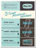 Per-Fit Products Corp 1954 Vintage Catalog Windows Aluminum Best-Vent