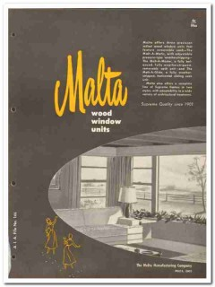 Malta Mfg Company 1954 Vintage Catalog Windows Wood Sash Malt-A-Matic
