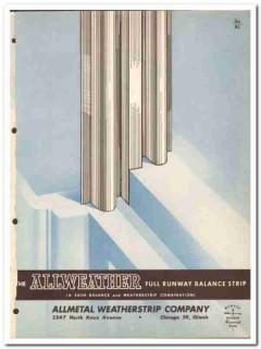 Allmetal Weatherstrip Company 1954 Vintage Catalog Window Sash Balance