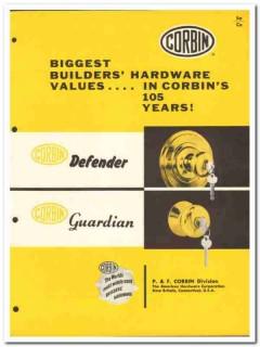 American Hardware Corp 1954 Vintage Catalog Corbin Defender Guardian