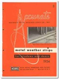 Accurate Metal Weather Strip Company 1954 Vintage Catalog Door Window
