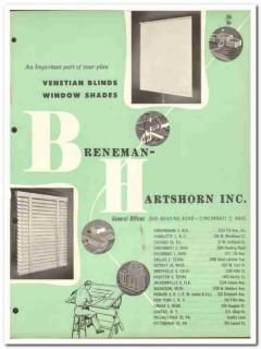 Breneman-Hartshorn Inc 1954 Vintage Catalog Window Venetian Blinds