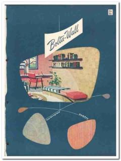 Bolta Product Sales Inc 1954 Vintage Catalog Bolta-Wall Vinyl Covering