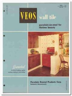 Porcelain Enamel Products Corp 1954 Vintage Catalog Tile Wall VEOS