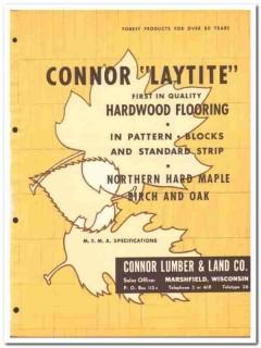 Conner Lumber Land Company 1954 Vintage Catalog Floor Hardwood Laytite