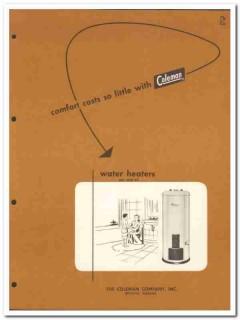 Coleman Company 1954 Vintage Catalog Heater Water Vit-Rock Oil Gas