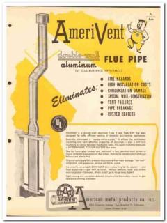 American Metal Products Company 1954 Vintage Catalog Flue AmeriVent