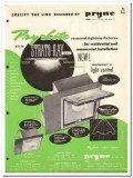 Pryne Company 1954 Vintage Catalog Lighting Pry-Lite Strato-Ray Lens