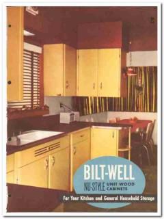 Carr Adams Collier Company 1954 Vintage Catalog Bilt-Well Cabinets