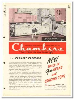 Chambers Products Inc 1954 Vintage Catalog Kitchen Gas Oven In-A-Wall