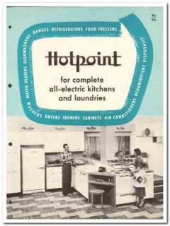 Hotpoint Company 1954 Vintage Catalog Appliances Kitchen All-Electric