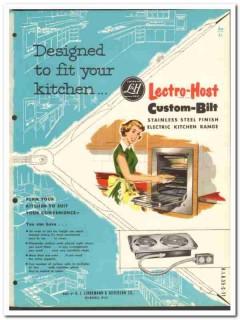 A J Lindemann Hoverson Company 1954 Vintage Catalog Lectro-Host Range