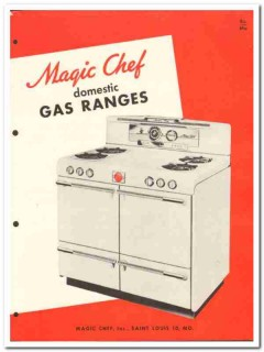 Magic Chef Inc 1954 Vintage Catalog Appliance Kitchen Gas Ranges