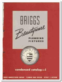 Briggs Mfg Company 1954 Vintage Catalog Plumbing Fixtures Beautyware