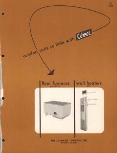 Coleman Company 1954 Vintage Catalog Heater Asbestos Floor Furnace