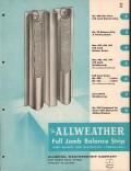 Allmetal Weatherstrip Company 1956 Vintage Catalog Window Allweather