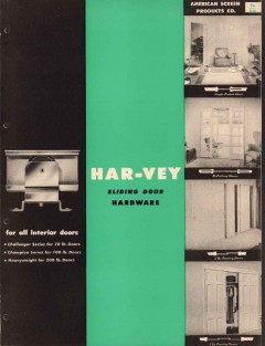 American Screen Products Company 1956 Vintage Catalog Har-Vey Hardware