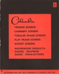 Columbia Mills Inc 1956 Vintage Catalog Window Screen Tension Casement