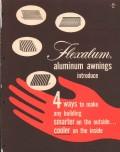 Hunter Douglas Corp 1956 Vintage Catalog Aluminum Awnings Flexalum