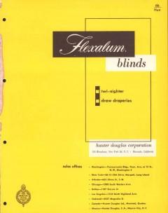 Hunter Douglas Corp 1956 Vintage Catalog Blinds Twi-Nighter Flexalum