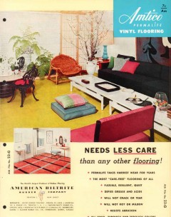 American Biltrite Rubber Company 1956 Vintage Catalog Flooring Vinyl